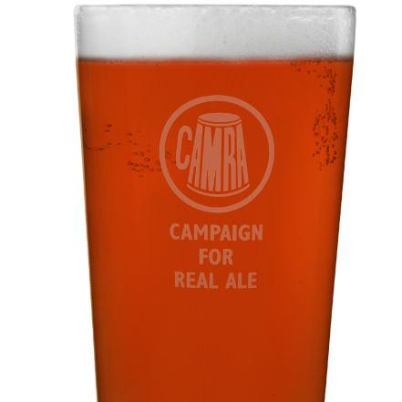 CAMRA Pint glass