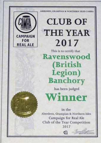 COTY 2017 Ravenswood Certificate