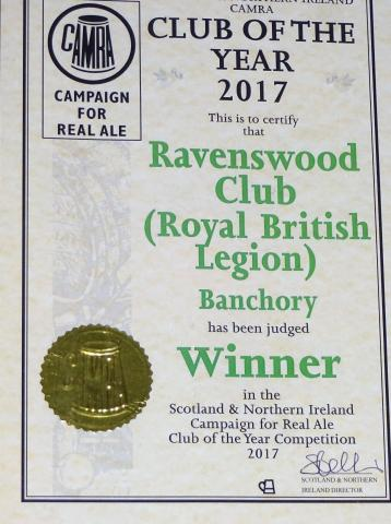 SCOTY 2017 Ravenswood Certificate